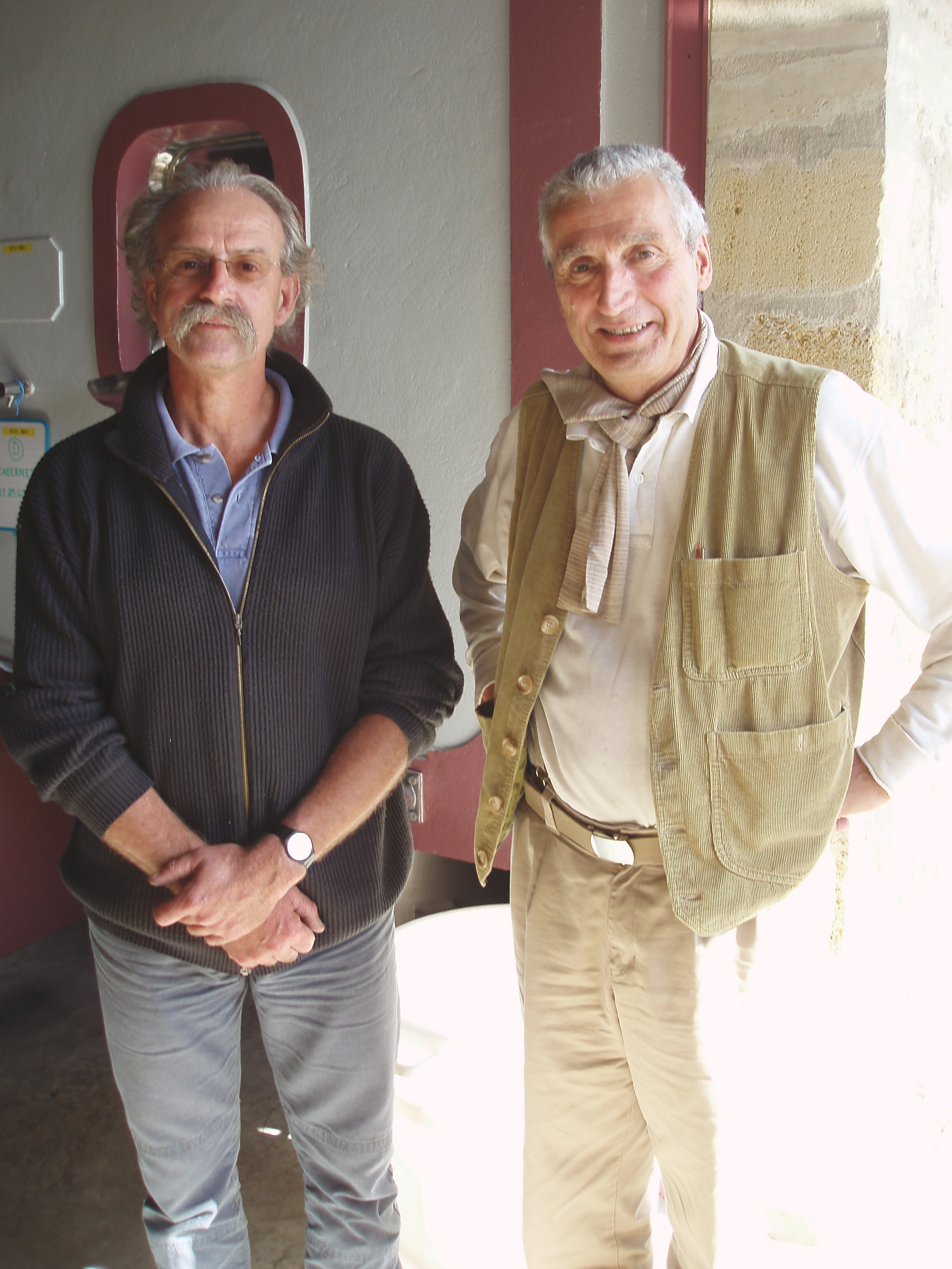 Jacques Guinaudeau (left) and Francois Mitjavile (Tertre Roteboeuf)